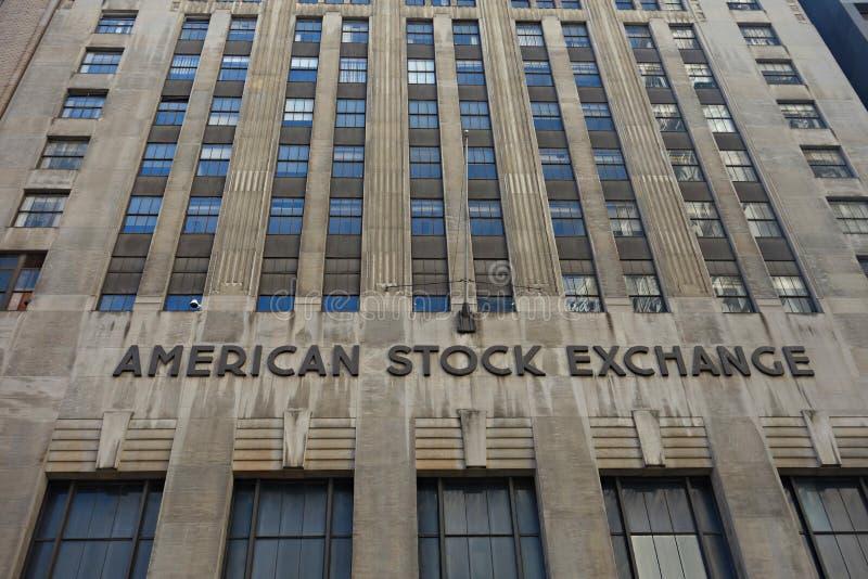 美国证券交易所 免版税图库摄影