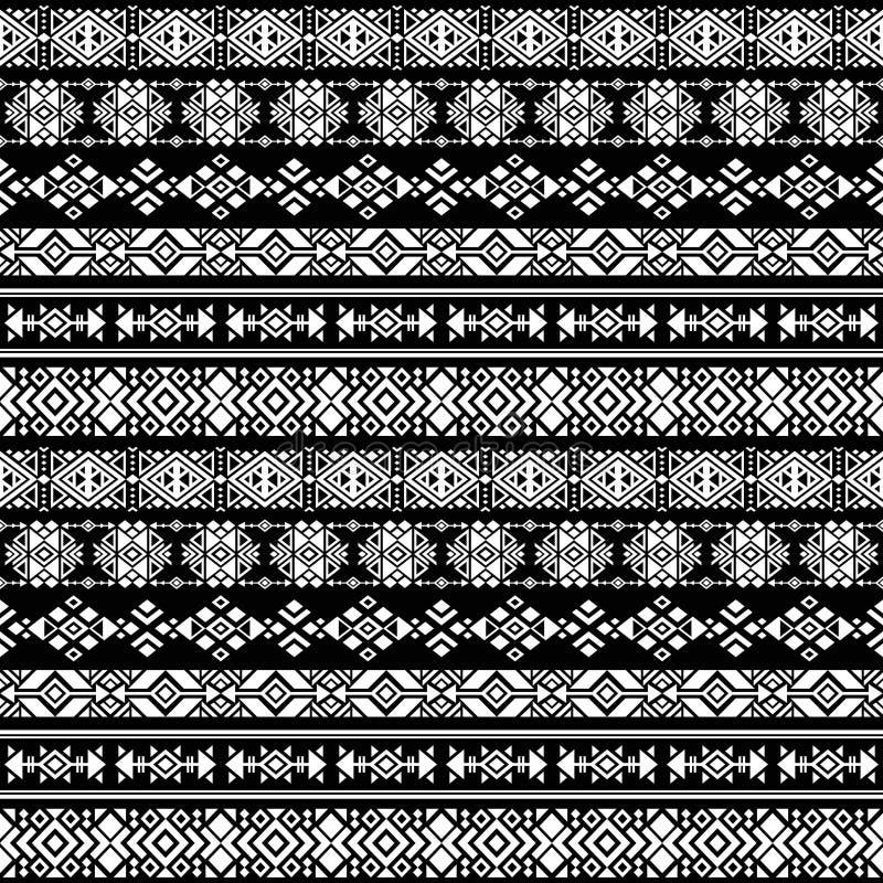 美国诞生阿兹台克人,部族秘鲁传染媒介无缝的样式 库存例证