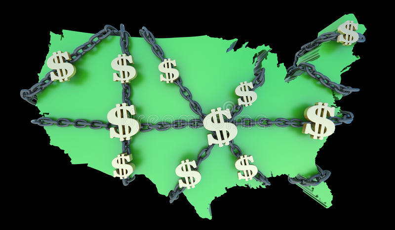 美国财务s手铐 向量例证