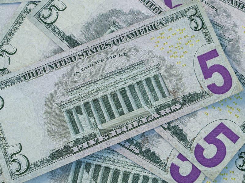 美国货币背景 美利坚合众国元 美元背景 免版税库存图片