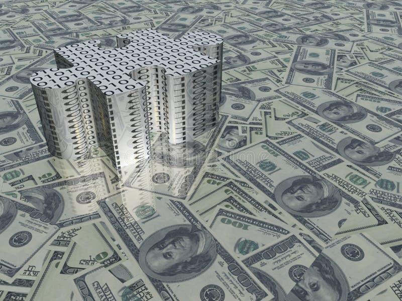 美国货币难题 向量例证