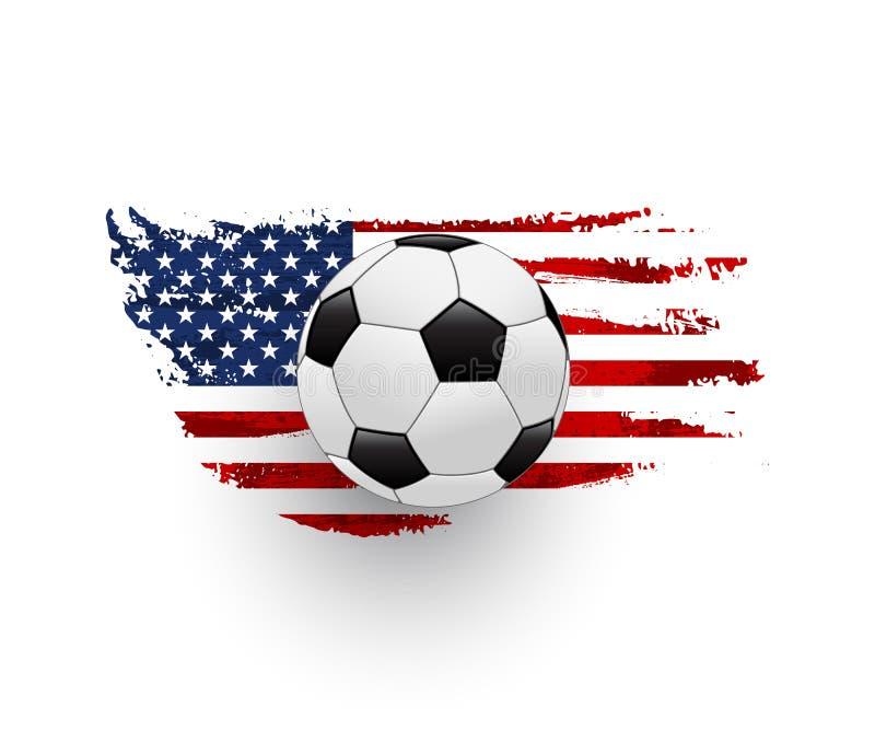 美国足球现实传染媒介例证 向量例证