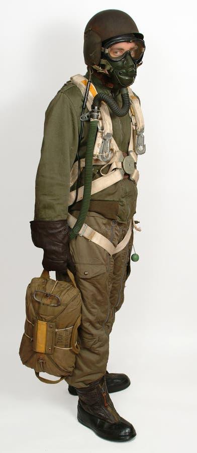 美国轰炸机机务人员ww11 免版税图库摄影
