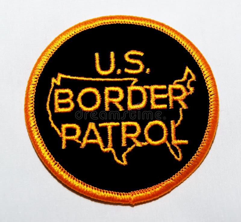 美国边境巡逻的肩章 图库摄影