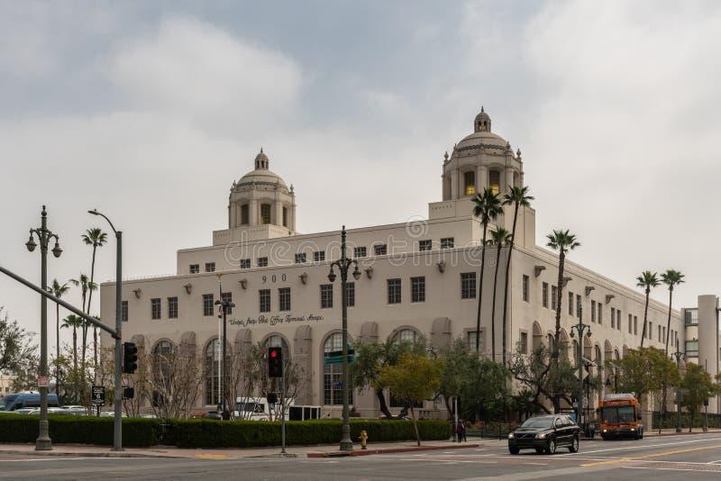 美国邮局终端,洛杉矶加利福尼亚 免版税库存照片