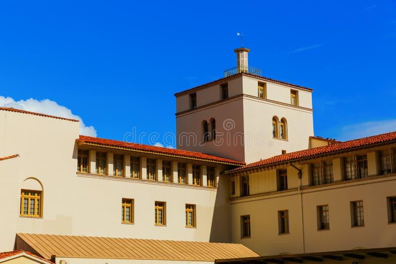 美国邮政局、海关和法院大楼,位于夏威夷瓦胡岛檀香山 库存图片