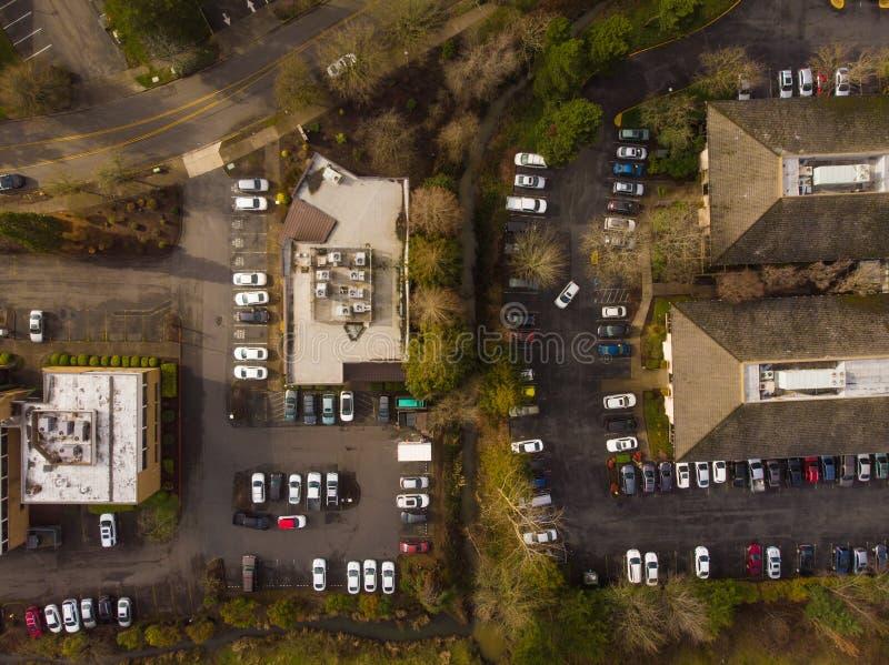 美国郊区,上方城市 免版税库存照片