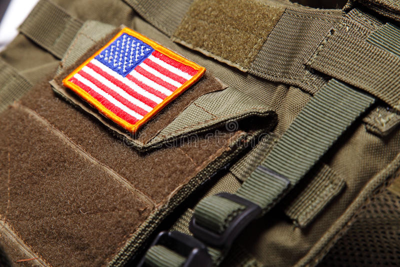 美国防弹标志背心 免版税图库摄影