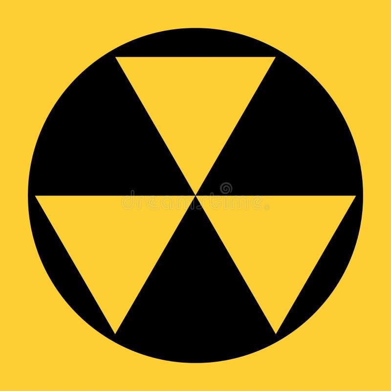 美国防核尘地下室标志 皇族释放例证
