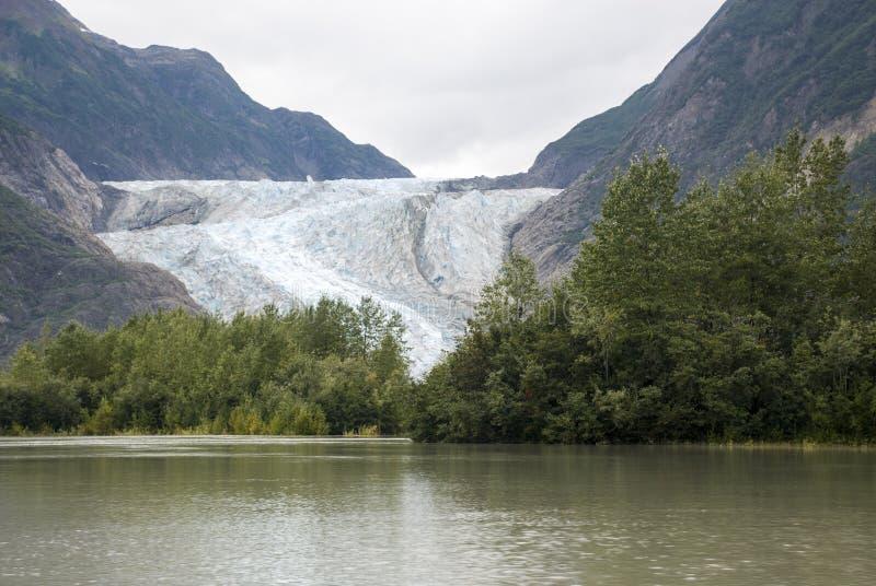 美国阿拉斯加-冰川点原野徒步旅行队-戴维森冰川 库存图片