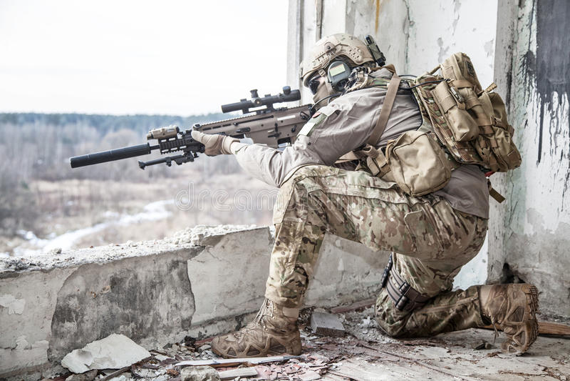美国陆军别动队员 免版税图库摄影