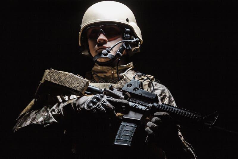 美国陆军特种部队小组战士 免版税库存照片