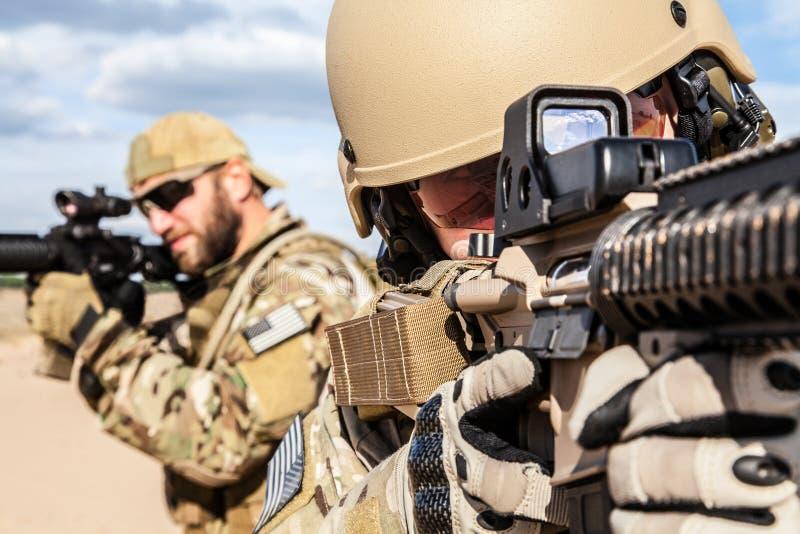 美国陆军特种部队小组战士 免版税库存图片