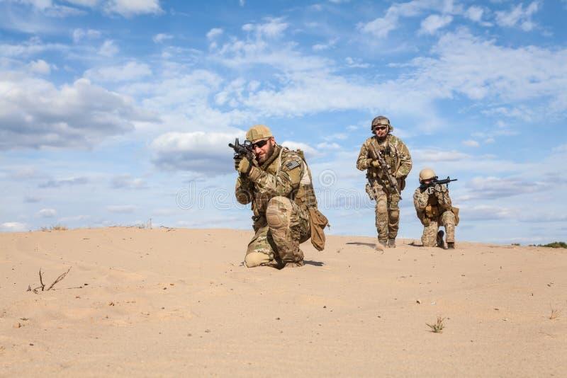 美国陆军特种部队小组战士 库存照片