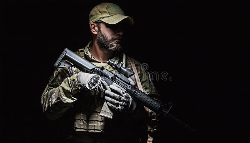 美国陆军绿色贝雷帽 图库摄影