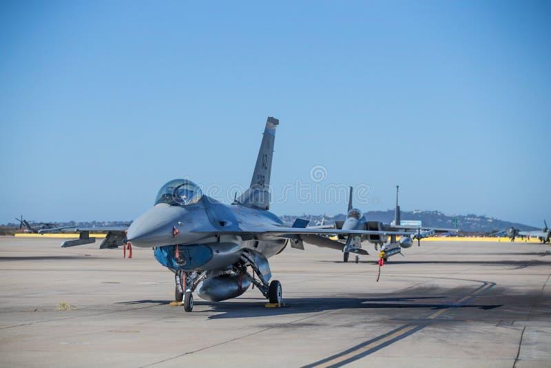 美国陆战队喷气式歼击机 图库摄影