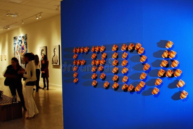 美国陈列frida kahlo 免版税库存照片