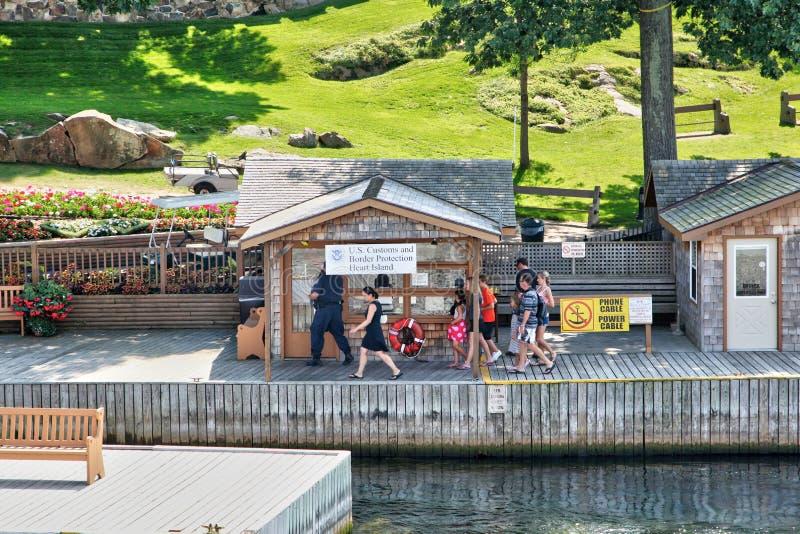 美国风俗和边界保护在心脏海岛,纽约上 免版税库存照片
