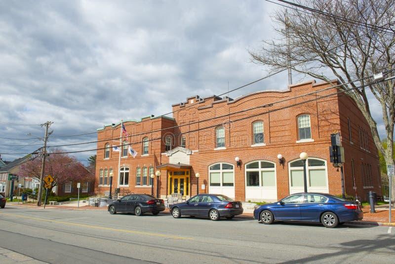 美国马萨诸塞州北安多弗市政厅 库存照片