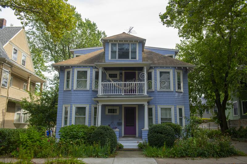 美国马萨诸塞州布鲁克林历史建筑 库存照片