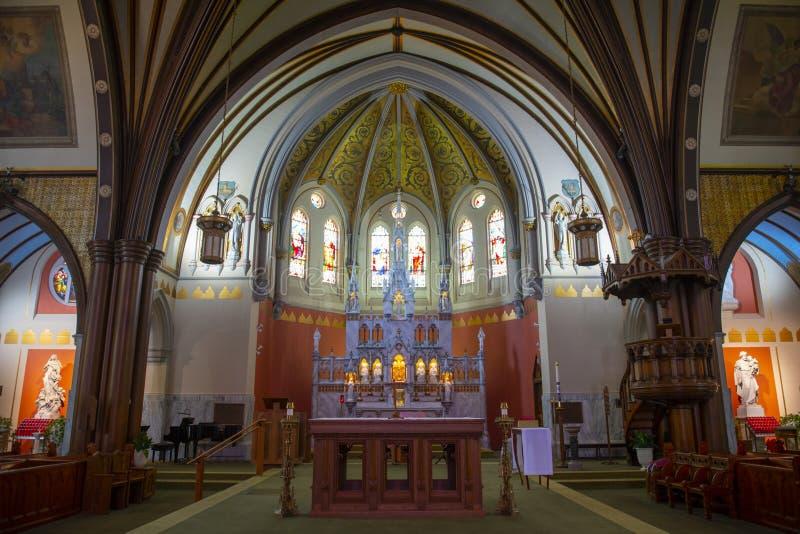 美国马萨诸塞州布鲁克林的圣玛丽 免版税库存图片