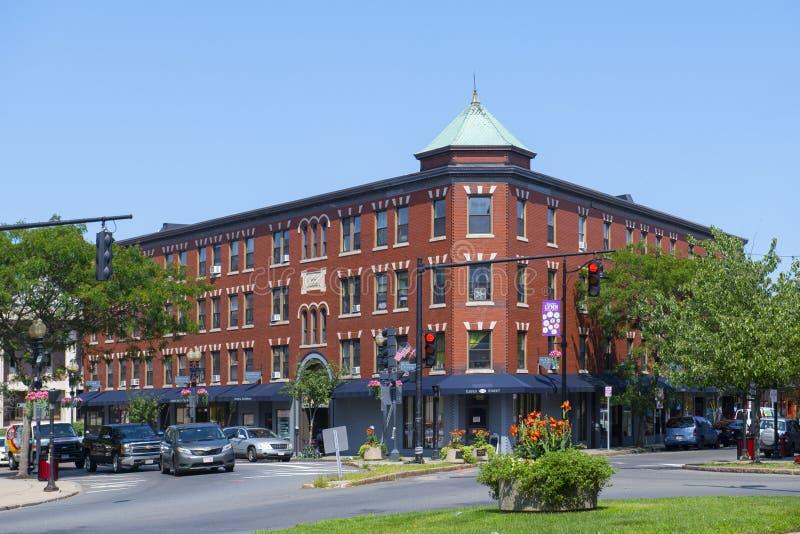 美国马萨诸塞州林恩市历史商业建筑 图库摄影