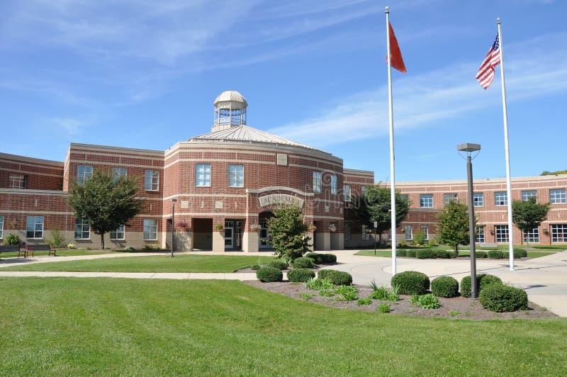 美国高现代学校 免版税库存图片