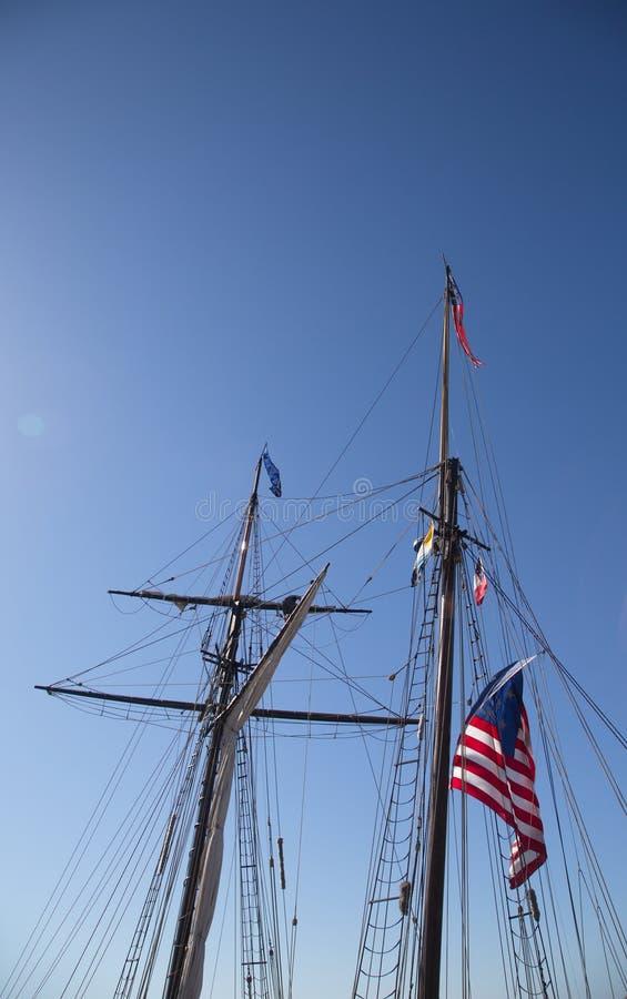美国高船 库存图片