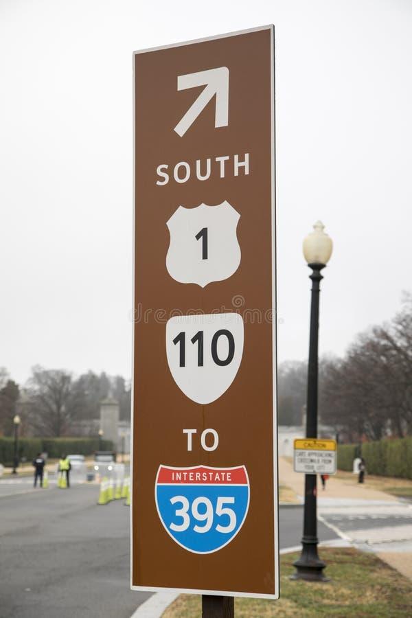 美国高速公路标志 库存图片
