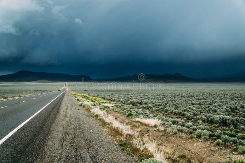 美国高速公路50 图库摄影