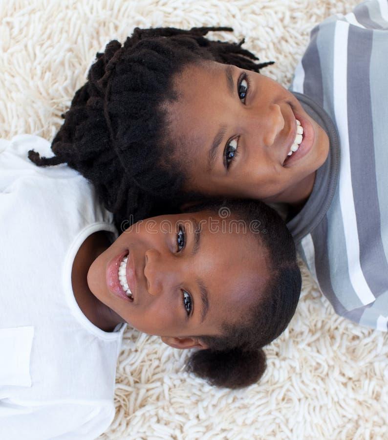 美国黑人的兄弟楼层姐妹 库存图片