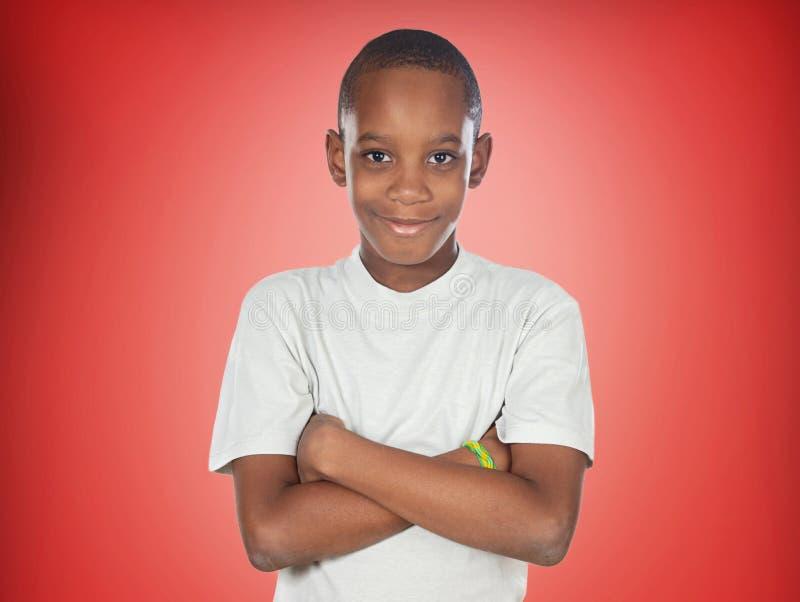 美国黑人的少年男孩 免版税库存照片