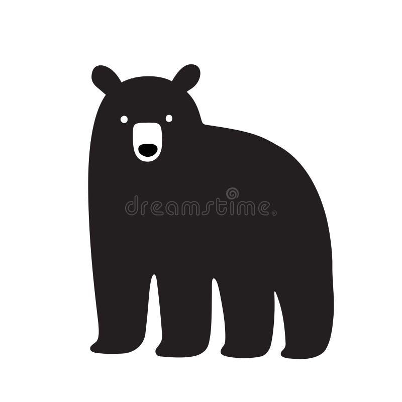 美国黑熊画 库存例证
