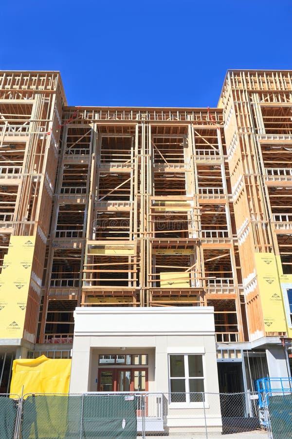 美国,亚利桑那/坦佩:新的公寓房-大厦壳 免版税图库摄影