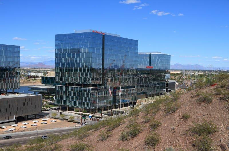 美国,亚利桑那/坦佩:状态农场的新的公司总部 免版税库存照片