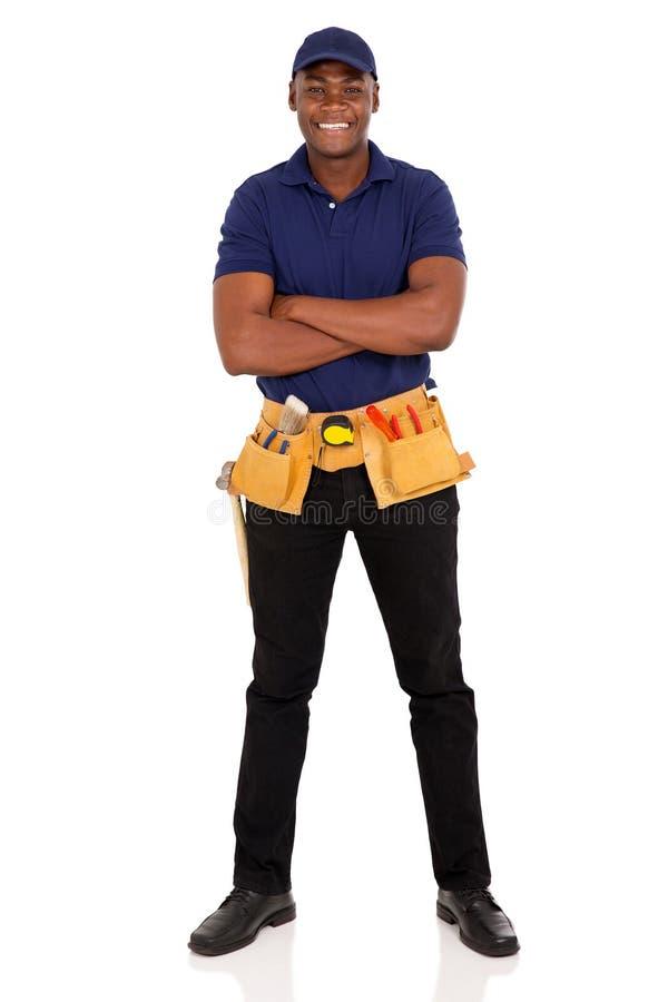 美国黑人的安装工 库存图片