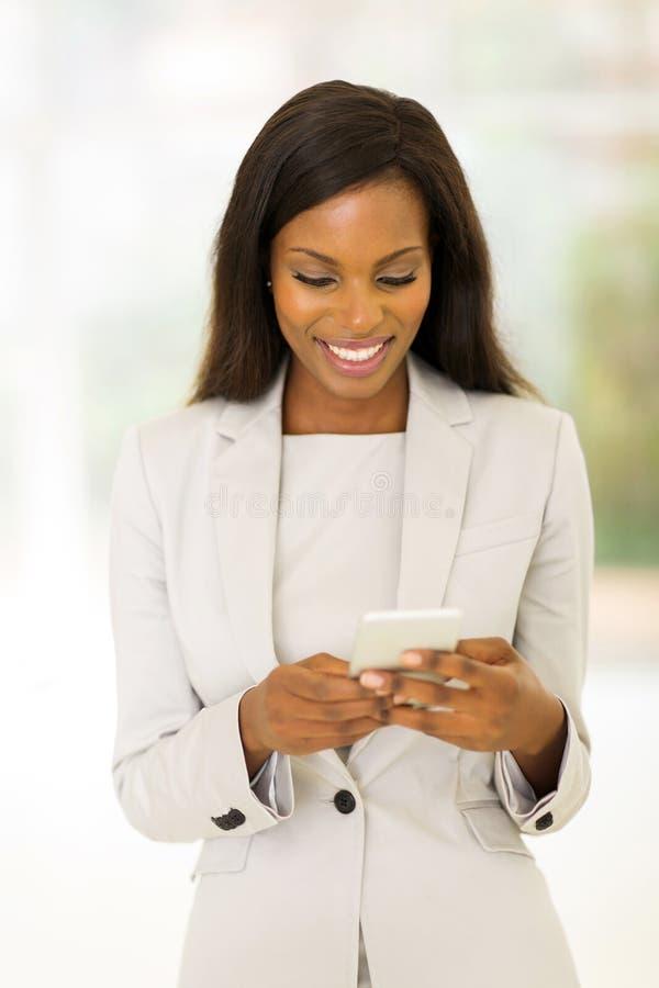 美国黑人的职业妇女 免版税库存照片
