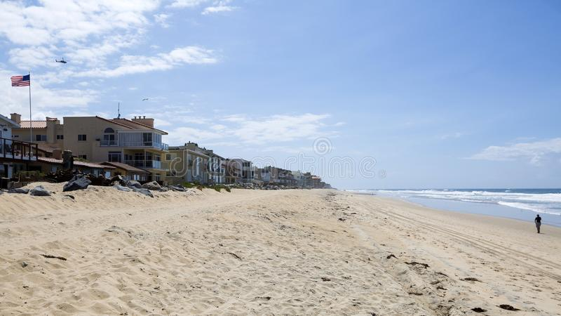 美国-加利福尼亚-圣地亚哥-皇家海滩 免版税库存图片