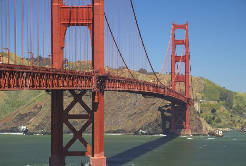 美国-加利福尼亚-旧金山-金门桥间距 免版税库存图片