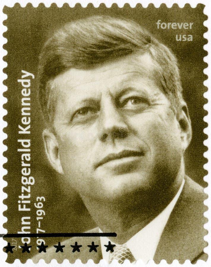 美国- 2017年:约翰・菲茨杰拉德・肯尼迪展示画象1917-1963,美国的第35位总统 库存图片