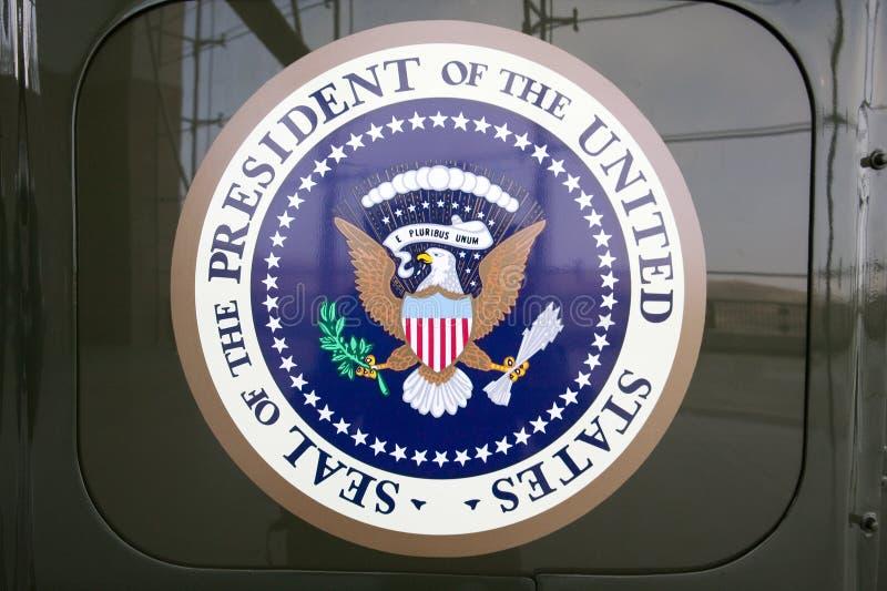 美国总统的密封显示的在Ronald Reagan总统图书馆和博物馆, Simi Valley,加州 库存照片
