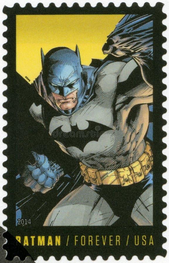 美国- 2014年:展示蝙蝠侠,系列DC漫画的第75周年 免版税库存图片