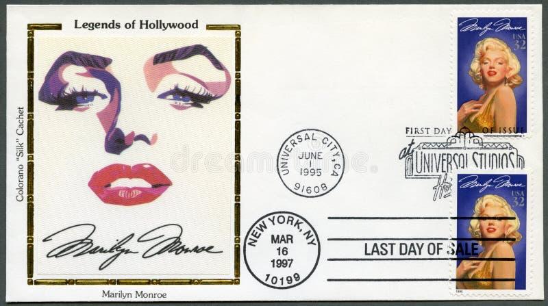 美国- 1995年: 展示玛里琳・门罗(1926-1962) 库存图片