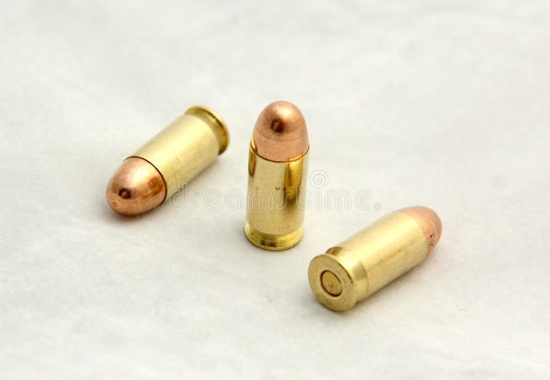美国cal .45 ACP子弹 免版税库存图片
