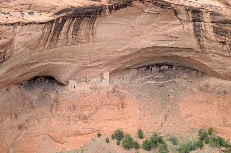 美国chelly峡谷de当地人废墟 库存照片