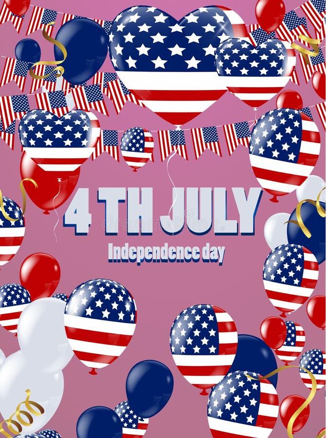 美国Day总统背景星飞行 假日confe 向量例证