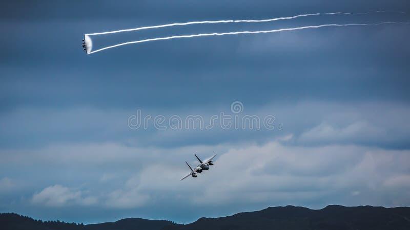 美国F15喷气式歼击机 免版税库存照片