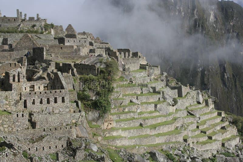 美国machu薄雾南秘鲁的picchu 库存照片