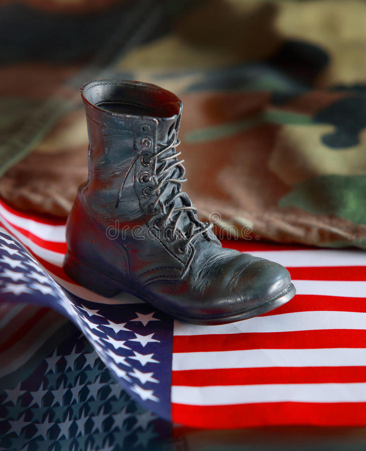 美国militar起动 免版税库存图片