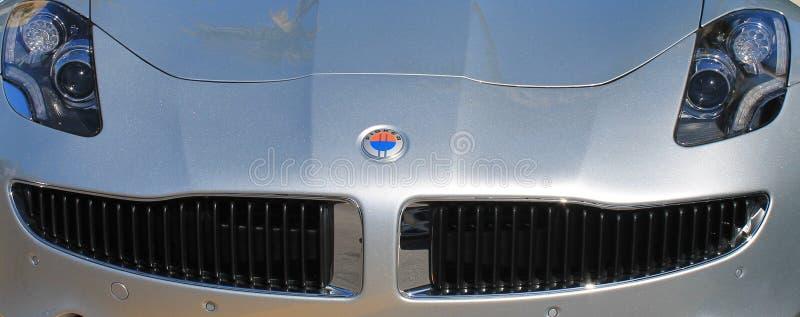美国supercar前灯和格栅 库存图片